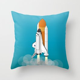 shuttle launch Throw Pillow