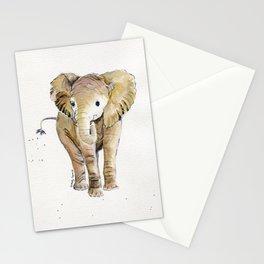 Baby Elephant 4 Stationery Cards