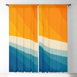 Abstract landscape art Blackout Curtain