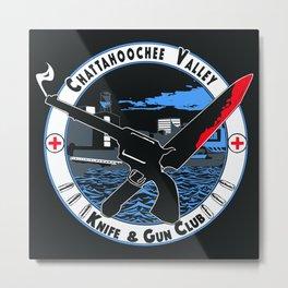 Chat Valley Knife Gun Club Metal Print