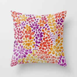 Watercolor flowers panno Throw Pillow