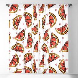 Cheerful grapefruit, blood orange pop art pattern Blackout Curtain