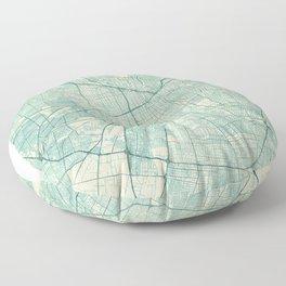 Santiago Map Blue Vintage Floor Pillow