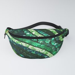 Green Art Deco Sequins Fanny Pack