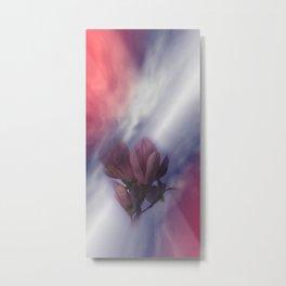 window curtain with flowerpower -2- Metal Print