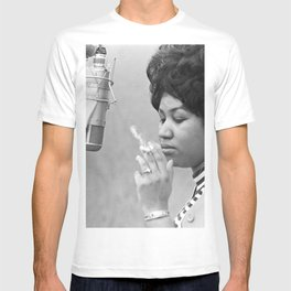Aretha Franklin Poster Photo Paper T-shirt