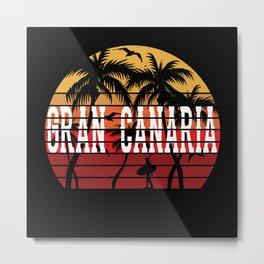 Gran Canaria Palm Trees Holiday Motif Gift Idea Metal Print
