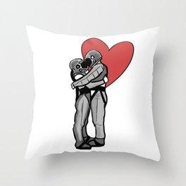 Astronauts valentine day Throw Pillow