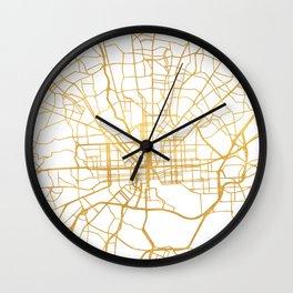 BALTIMORE MARYLAND CITY STREET MAP ART Wall Clock