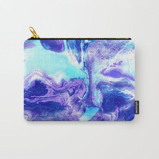 Swirling Marble in Aqua, Purple & Royal Blue by tangerinetane