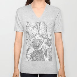 Marble Grey Unisex V-Neck