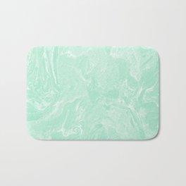 Pastel Mint Green Marble Minimalist Bath Mat