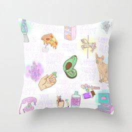 Sad Girls Club Throw Pillow