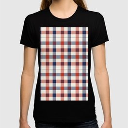 Plaid Red White And Blue Lumberjack Flannel T-shirt