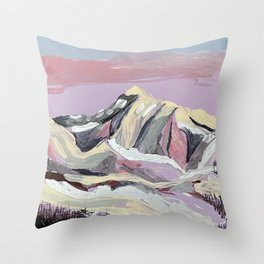 Purple Mountain Throw Pillow
