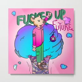 Fucked up future (망했어) Metal Print