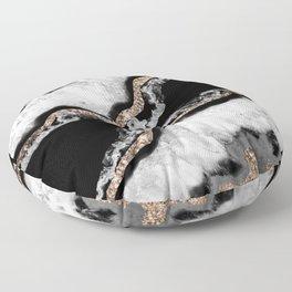 Yin Yang Agate Glitter Glam #8 #gem #decor #art #society6 Floor Pillow