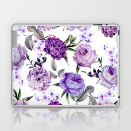 Elegant Girly Violet Lilac Purple Flowers Laptop & iPad Skin