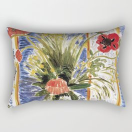 Henri Matisse - Poppies - Exhibition Poster Rectangular Pillow