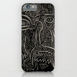 Black and White Graffiti Art Tribal  iPhone Case