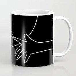 Minimal line drawing of E.T. Coffee Mug