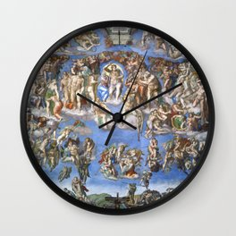 Michelangelo Last Judgement Wall Clock