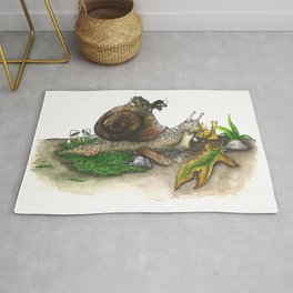 Little Worlds: Snail and Cricket Rug