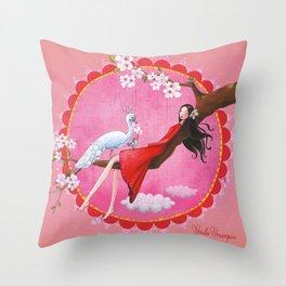 Kanshanokimochi Throw Pillow