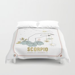 Scorpio Zodiac Series Duvet Cover