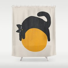 Cat with ball Shower Curtain