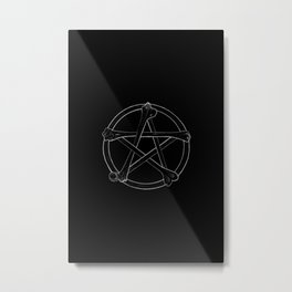 Bone Pentacle Metal Print