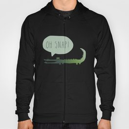 Oh Snap Alligator Illustration Hoody
