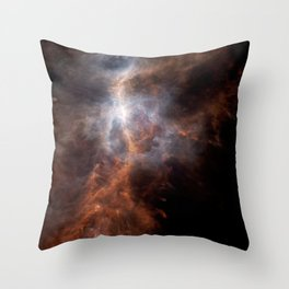Ionized Carbon Atoms in Orion Throw Pillow
