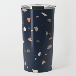 Midnight Navy Terrazzo #1 #decor #art #society6 Travel Mug