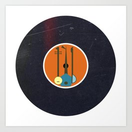 Vinyl Record Art & Design | Mid-Century Modern Musical Instruments 1.1 Orange Art Print