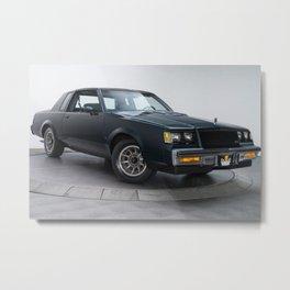 GM Dark Blue Grand National Regal T-type Turbo T Metal Print