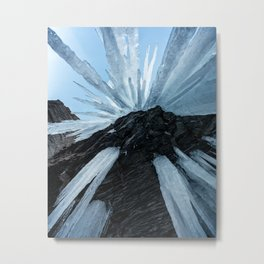 Sharp Cold Metal Print