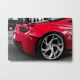 Red Dream Car Metal Print