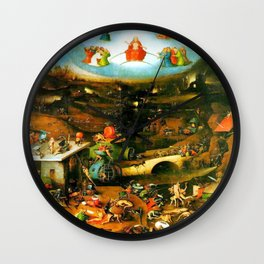 Last Judgement by Bosch c. 1482 Wall Clock