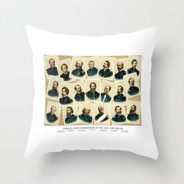 Union Commanders of The Civil War Throw Pillow