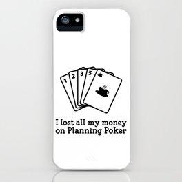 Scrum Planning Poker iPhone Case