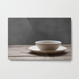 Ceramic Bowl and Plate Metal Print