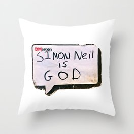 Simon Neil is God Throw Pillow
