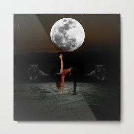 Moonchild Wolf Spirit Metal Print