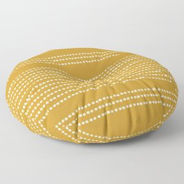Spotted, Mudcloth, Mustard Yellow, Wall Art Boho Floor Pillow