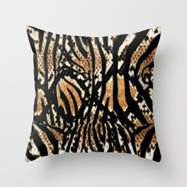 Zebra snake print Throw Pillow