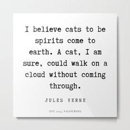 4   | Jules Verne Quotes | 200113 Metal Print