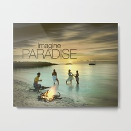 Imagine Paradise Metal Print