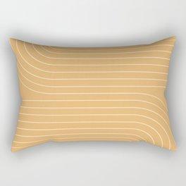 Minimal Line Curvature - Orange Rectangular Pillow
