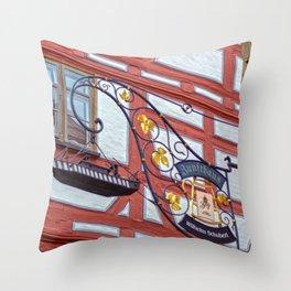 Zunfthaus Ulm Throw Pillow